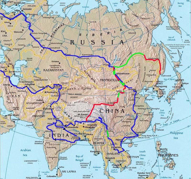 Yuriatin Russia Map